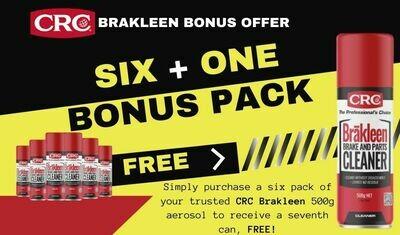 CRC BRAKLEEN 6 PACK BONUS SEVENTH CAN FREE