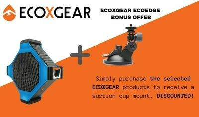 ECOXGEAR ECOEDGE BLUETOOTH SPEAKER AND SUCTION CUP MOUNT