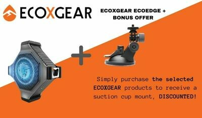 ECOXGEAR ECOEDGE + AND SUCTION CUP MOUNT