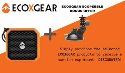 ECOXGEAR ECOPEBBLE LITE SPEAKER AND SUCTION CUP MOUNT