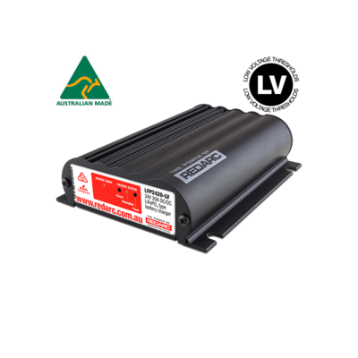 REDARC 24V 20A IN-VEHICLE LIFEPO4 BATTERY CHARGER (LOW VOLTAGE)