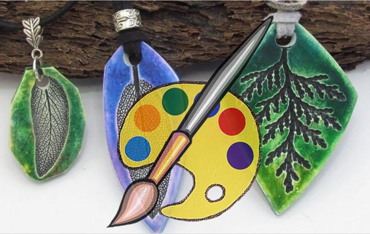 Impressions Leaf Pendant Supplies