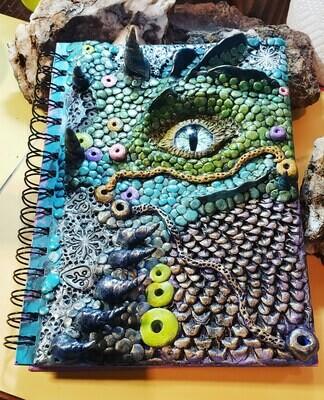 Handmade Lagoon Dragon Journal