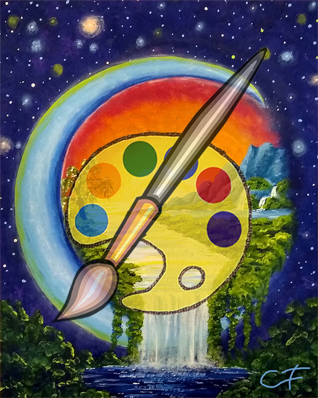 Moon Visions Canvas Supplies