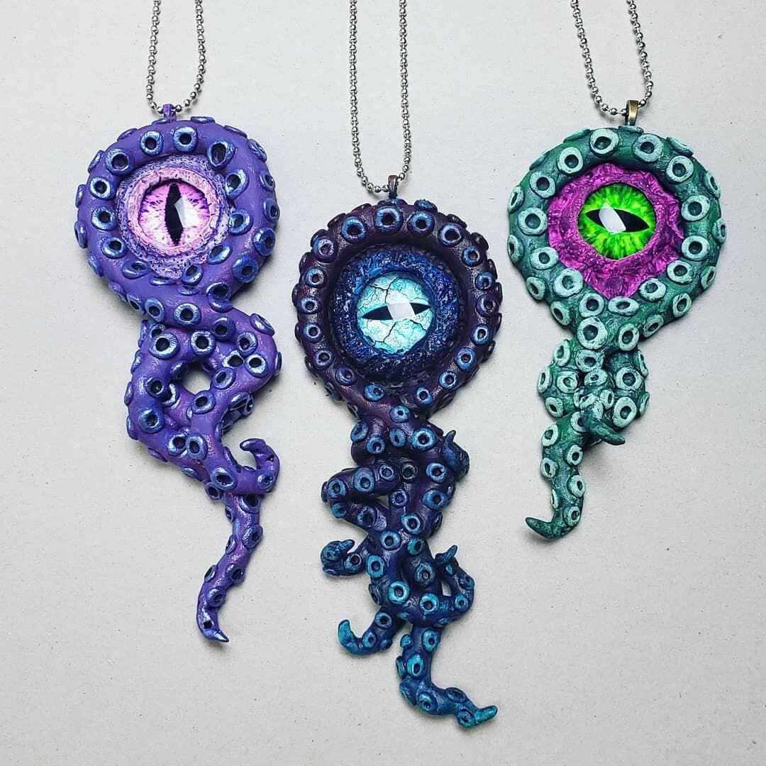Custom Order Kraken Necklace
