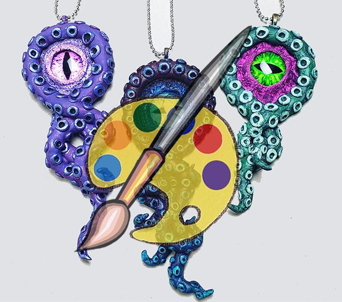 Octo-Eye Pendant Supplies