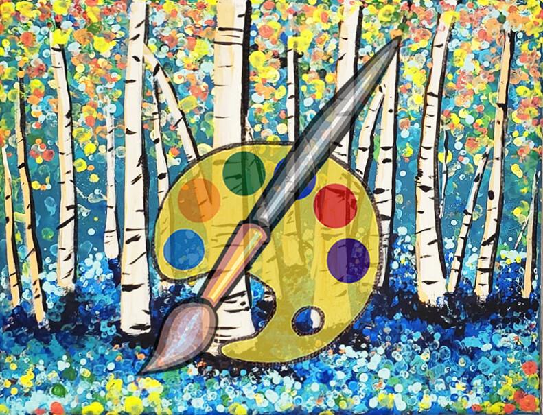 Birch Forest Canvas Supplies