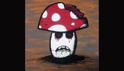 Zombie Mushrooms Canvas LIVE ONLINE Class
