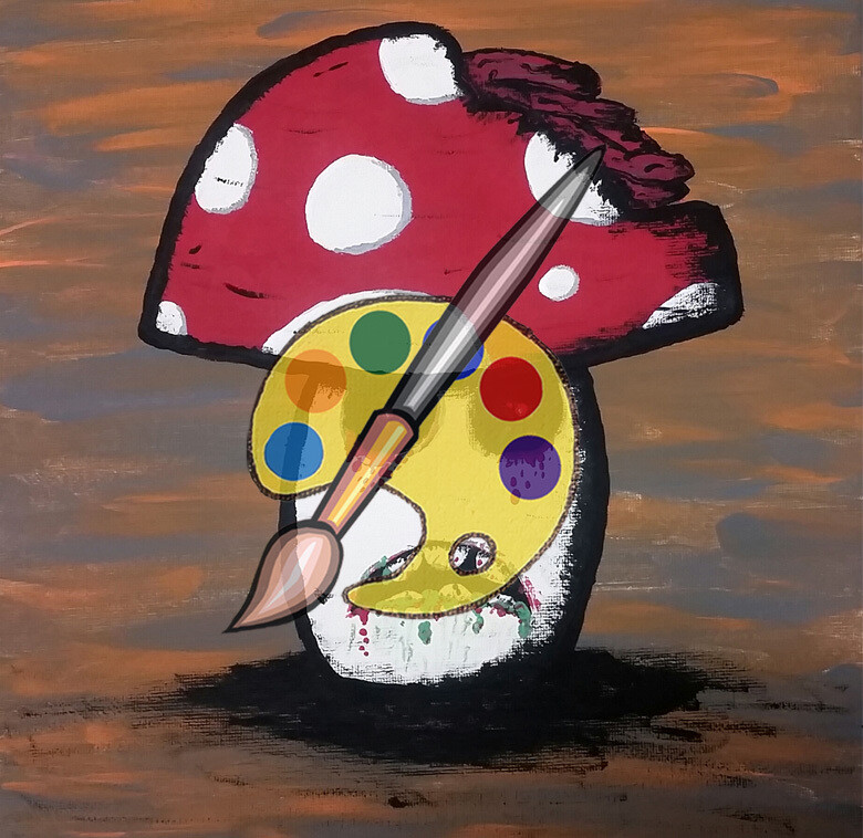 Zombie Mushrooms Canvas Supplies
