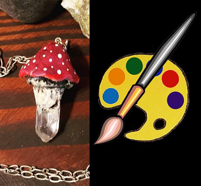 Crystal Mushroom Pendant Supplies