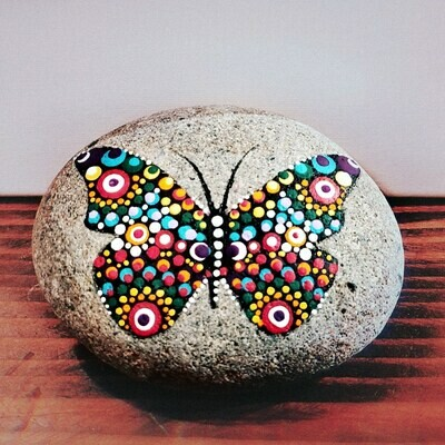 Butterfly Dot Art Sandstone