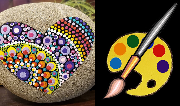 Heart Mandala Stone Supplies