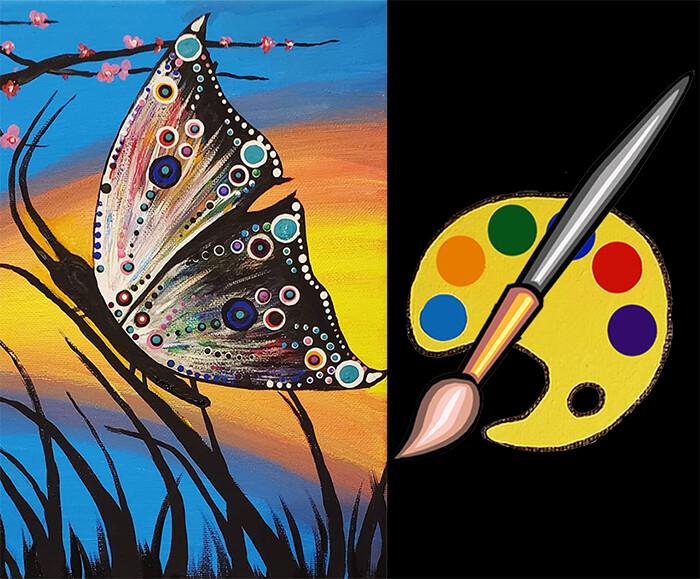 Butterfly Fields Canvas Supplies