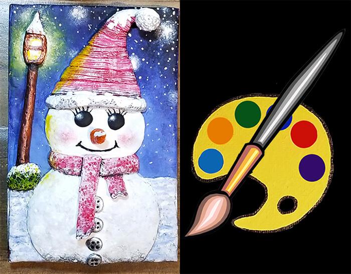Snowman Journal Supplies