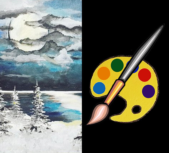 Winter Wonderland Canvas Supplies