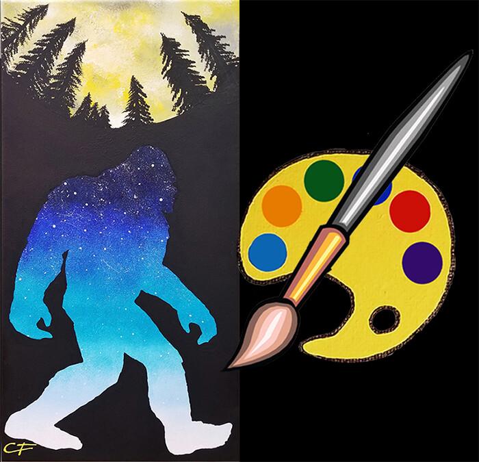 Sasquatch Moon Canvas Supplies