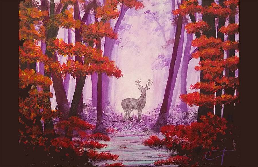 Deep Woods Canvas LIVE ONLINE Workshop