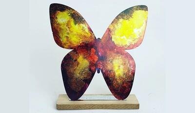 Alcohol Ink Tabletop Butterfly IN-STUDIO Workshop