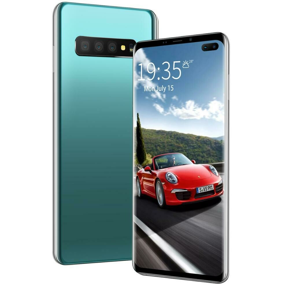 2 for the price of 1 - Big Screen 4G Android Smart Phone 6.5Inch 6GB+128GB Custom Mobile Phones S10 + smartphone (2 phones included)