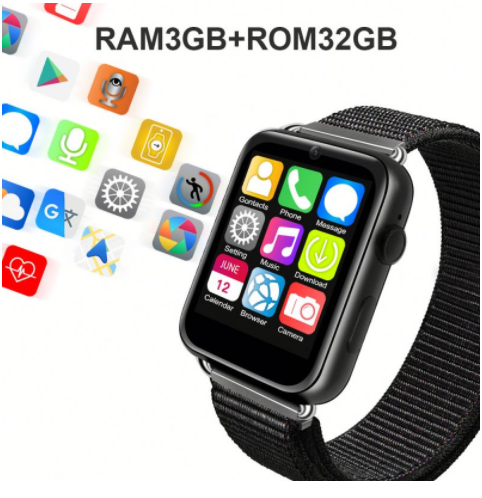 Big Screen 1.82inch 4G Android LEM10 GPS smart watch with big memory 3GB+32GB GPS WIFI 780mah Big Battery Smartwatch Phone