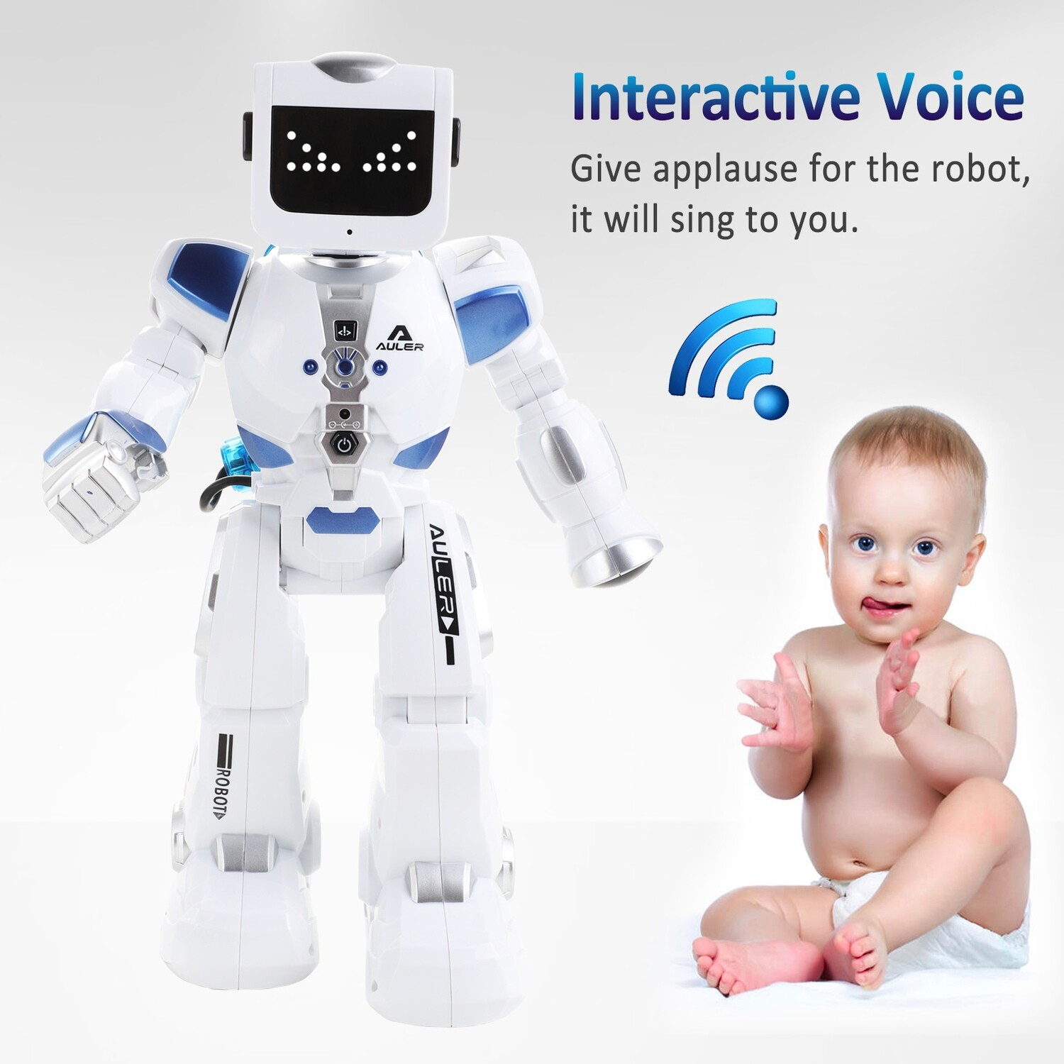 Intelligent dancing interactive robot for kids with FREE Shipping.