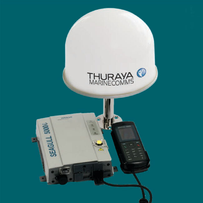 Seagull 5000i voice, Maritime data and fax satellite terminal with built-in GPS tracking system