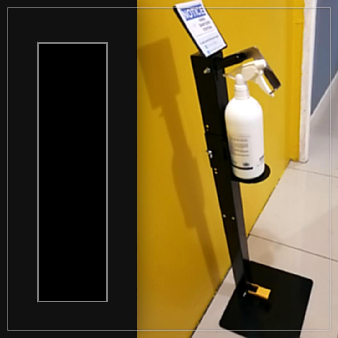 Hands-Free Foot Operated Standup Sanitiser Dispenser