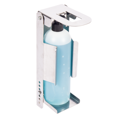 Hands-Free Elbow Operated Sanitiser Dispenser - Stainless Steel