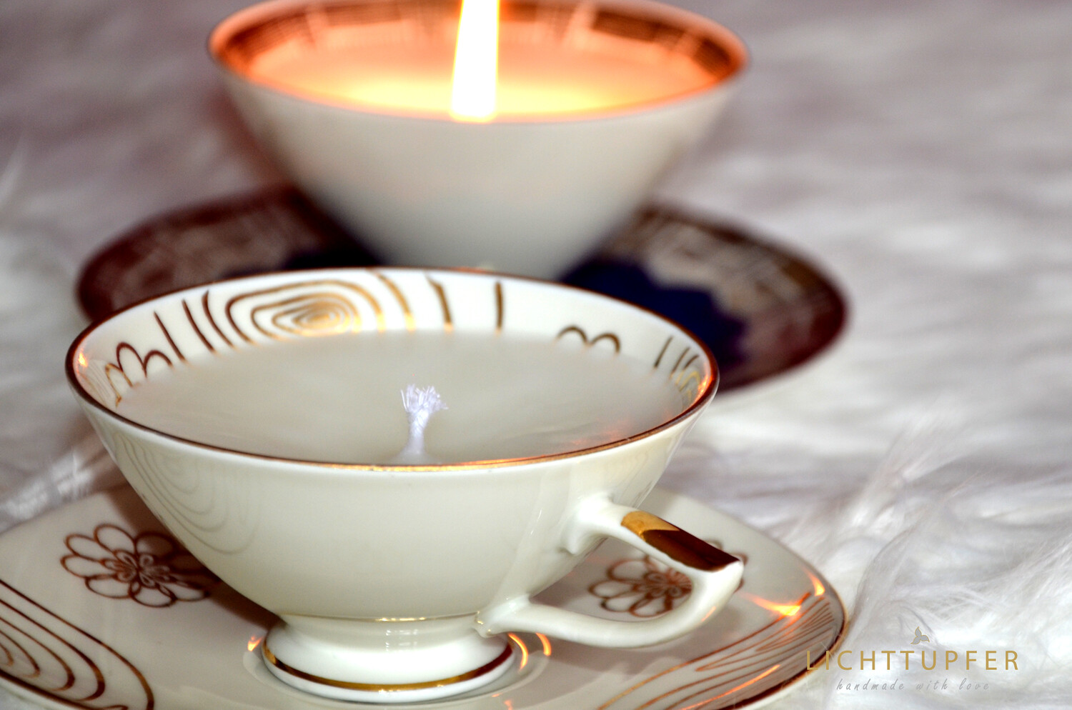 Cupe Candle Romantik White