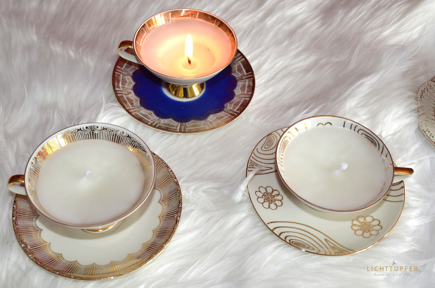 Cupe Candle Romantik White_Golden
