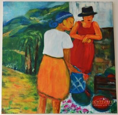 Die Melonenverkäuferin The melon seller