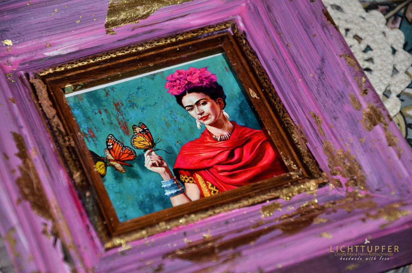 BOHO-Stil - Altrosa - Wechselrahmen BOHO style - dusty pink - Removable frame
