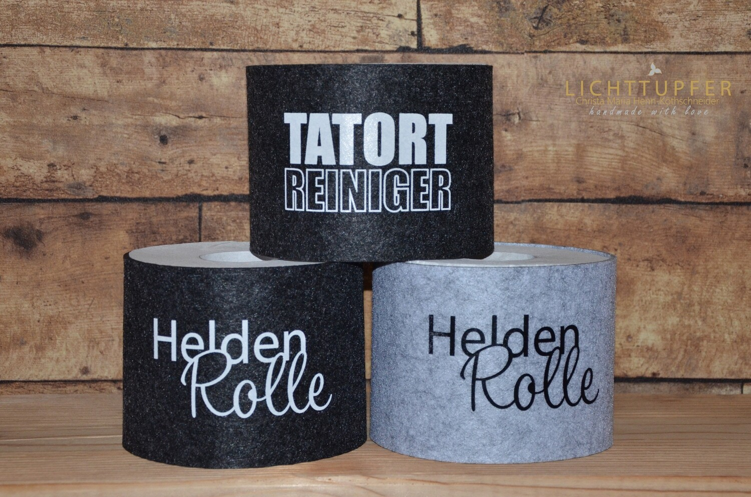 Banderole Heldenrolle in grau  mit Klettverschluss Banderole hero roll in gray with Velcro