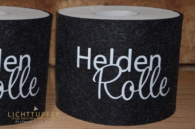Banderole Heldenrolle in schwarz  mit Klettverschluss Banderole hero roll in black with Velcro