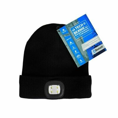Tech Beanie w/BT Speaker & Light