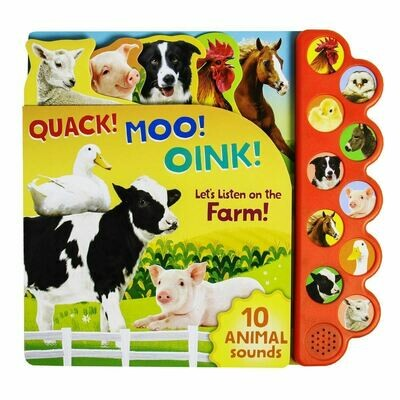 Quack! Moo! Oink! 10 Button Sound Book