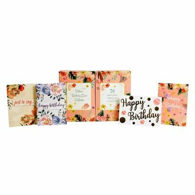 24pc Deluxe Birthday Card Collection