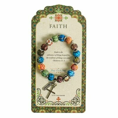 Faith Beaded Bracelet (NEW)