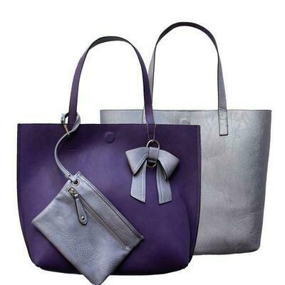 Nadia-Lavender Reversible Tote