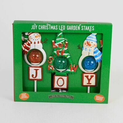 Christmas Joy Solar String of 3