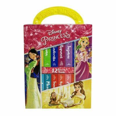 Disney Princess 12 Book Block Carry Box