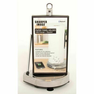 Paper Towel Holder USB Charger + Speaker