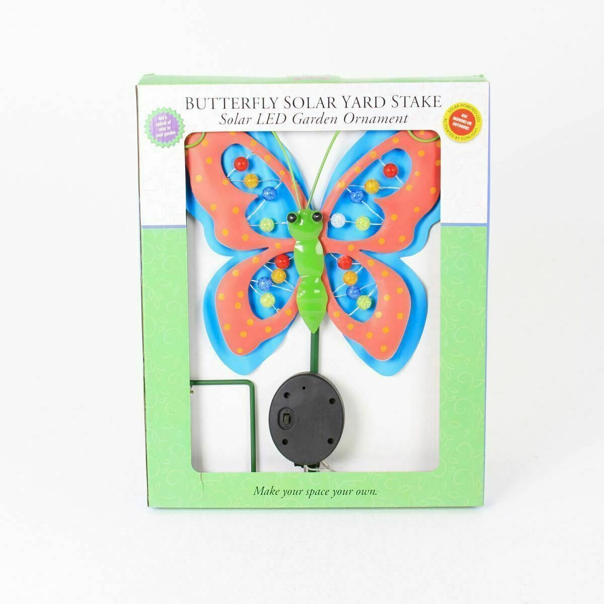 Multicolored Butterfly Solar Yard Stake