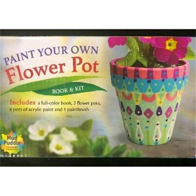 Paint a Flower Pot Book & Kit