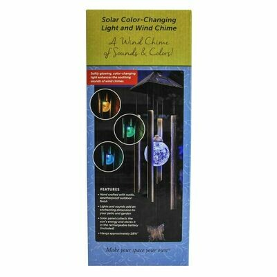 Solar Color-Changing Light & Wind Chime