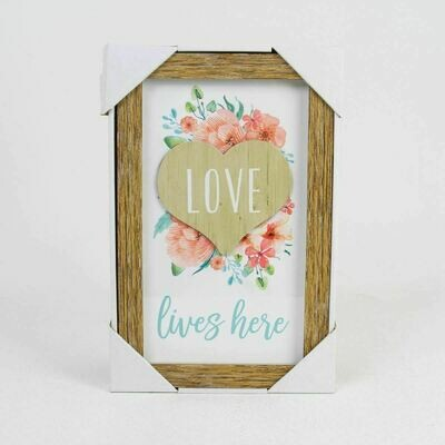 Love Lives Here Shadow Box