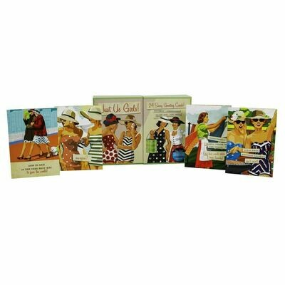 24pc Just Us Girls Handmade Card Box