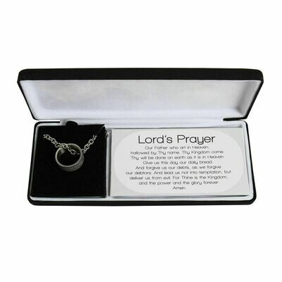 Lord's Prayer Silver Plated Necklace NEW