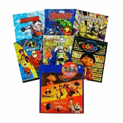 Disney Pixar Look & Find Tote Bag 6bks