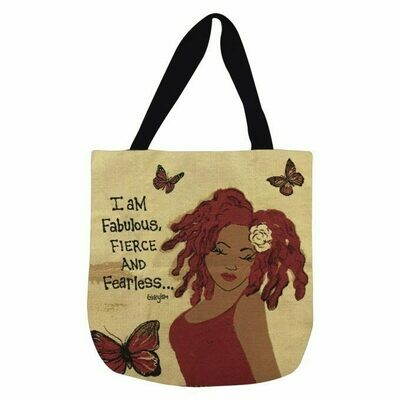 I Am Fabulous, Fierce And Fearless Woven Tote